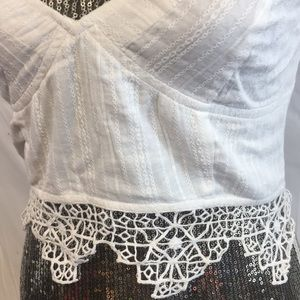 Free People Tops - FP Ivory One Geo Lace Bralette Tank Top L boho New